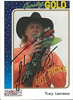Tracy Lawrence 1992 Sterling Country Gold Autograph #8