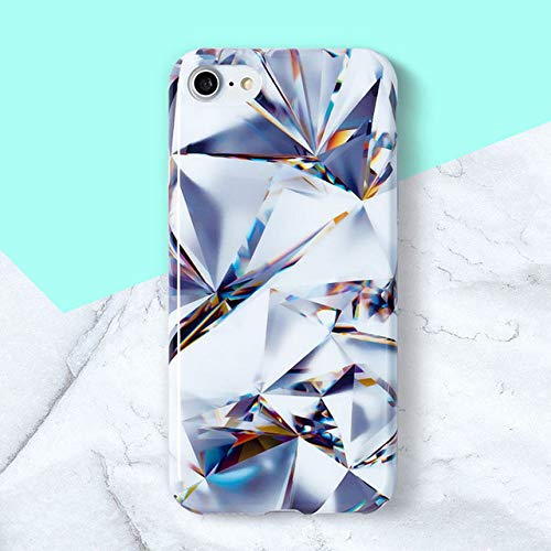 HSXQL telefoonhoes Marble Phone Case for iPhone X Case Luxury Glossy Soft Silicone Stone patroon Cover voor iPhone 7 6 8 6s Plus