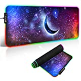 RGB Mouse Pad, 14 Glowing Modes Led Gaming Mouse MatAnti-Slip Rubber Base