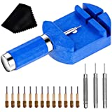 Watch Link Removal Tool Kit, Cridoz Watch Band Tool Chain Link Pin Remover with 12pcs Replacement Pins and 3pcs Pin Punches for Watch Bracelet Sizing, Watch Strap Adjustment and Watch Repair