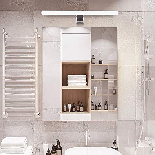 Siet Accesorio de iluminación de la pared de la luz del espejo LED, lámparas de espejo de maquillaje impermeable, luces de tocador de metal anti-niebla, sin parpadeo, espejo de gabinete de bañ