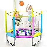 Glzcyoo Trampoline for Kinder Kinder Indoor Faltbare Trampolin Mute Trampolin for Kinder mit Schutznetz Außen Garten Adult Fitness Rebounder 120cm (Farbe : J)