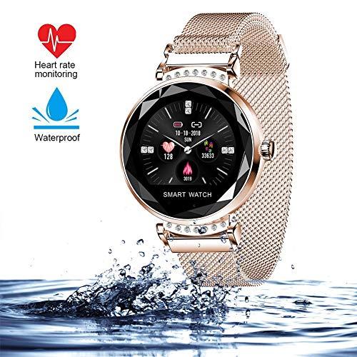 wetwgvsa Pulsera Actividad Fitness Tracker con Pulsómetro Monitor de Sueño 8 Modes de Ejercicio SMS SNS Notificación Reloj Inteligente Pantalla Color Smartwatch H2 para Mujer