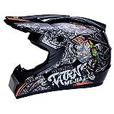 CZLWZZD Motocross Helmhandschuhe Maske und Schutzbrille (4er-Set) DOT-geprüfte...