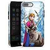 Coque Compatible avec Apple iPhone 7 Plus Coque renforcée Coque Antichoc Disney La Reine des Neiges Anna & Sven Cadeaux pour Supporters