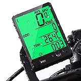 Velocimetro Cuentakilómetros para Bicicleta, Uplayteck Computadora para Bicicleta Multifunción con Odómetro, Medidor de Distancia, Calorías, Tiempo y Temperatura, Ciclocomputadores con Pantalla LED de retroiluminación, Impermeable