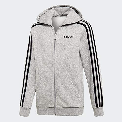 adidas Kinder YB E 3S FZ HD Sweatshirt, Brgrin/Negro, 164