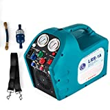 DreamJoy 1/2HP Refrigerant Recovery Machine Portable 115V AC Refrigerant Recycling Machine Automotive HVAC 558psi Refrigerant Recovery Unit Air Conditioning Repair Tool (115V)