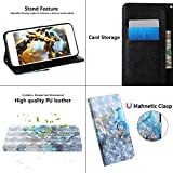 Lvnarery Huawei P Smart 2021/Huawei Y7A Cell Phone Case,Flip PU Leather Wallet Booklet Case Magnetic Protective Cover with shockproof TPU,Stand function,Card Slots Protection Cover Marble