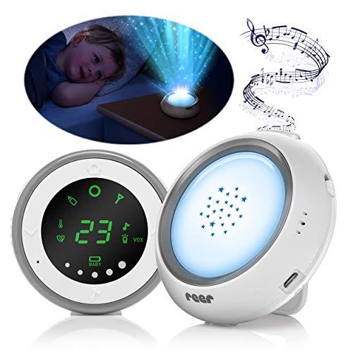 reer 50080 projector babyfoon met sterrenhemel nachtlampje en wiegenlied-functie, wit