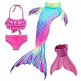 onlight Bambine e Ragazze Cosplay Bikini Mermaid Tail