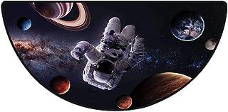 浴室 足拭きマット速乾 洗える ラグ ミニマット 丸洗える (80*120cm) バスマット 玄関マット 足ふきマット フロアマット宇宙空間の装飾、惑星火星海王星の間の宇宙飛行士木星プラズマエーテル球の画像、マルチ