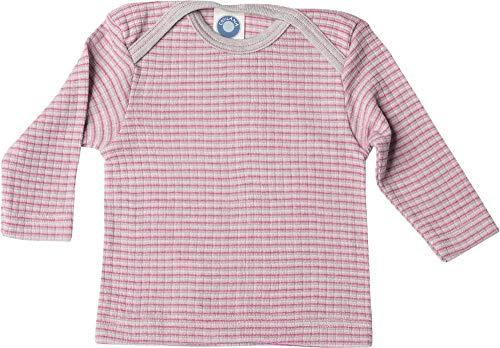 Cosilana, Baby Schlupfhemd Langarm, 45% KBA Baumwolle 35% kbT Wolle, 20% Seide (62-68, Grau/Pink/Natur)