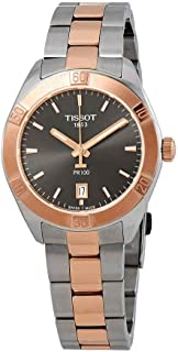 Tissot Ladies PR 100 Two Tone Stainless Steel Rose Gold Watch 36mm T101.910.22.061.00