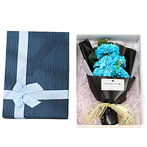 XYDZ Jabón Artificial Clavel Regalo Creativo de Clavel en Caja de Regalo de Ramo de Flores de Jabón para Cumpleaños Aniversarios Bodas San Valentín Día de la Madre