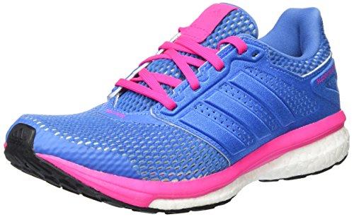 adidas Damen Supernova Glide 8 Laufschuhe, Blau (Super Blue/Super Blue/Shock Pink), 39 1/3 EU