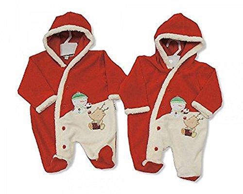 Baby Christmas con cappuccio all in one pagliaccetto outfit vestiti Gift–3/6mesi