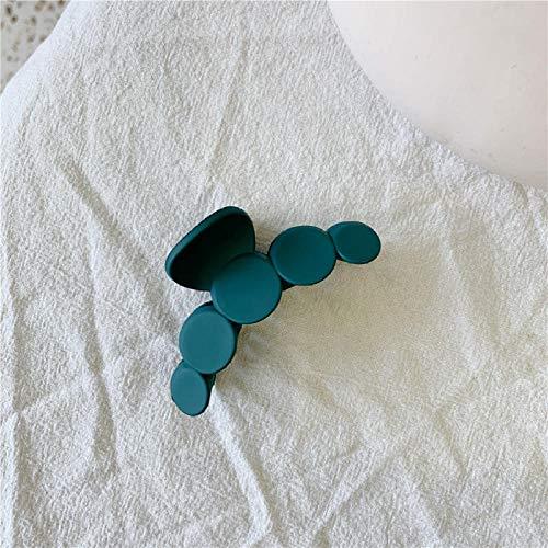 Clip De 2 Piezas Color Esmerilado Redondo Patrón Simple Horquilla Chica Malla Rojo Clip Superior Joyería-Azul Turquesa
