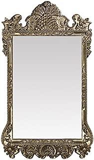 Howard Elliott Marquette Antique Oversized Mirror, Leaning Wall Ornate Mirror, Full Length, Silver Leaf, 49