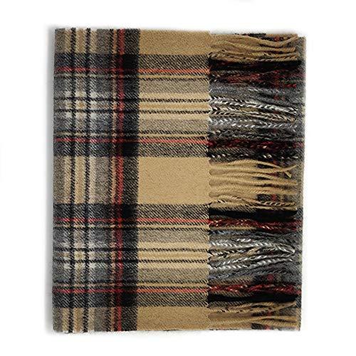 Kiltane of Scotland - Sciarpa scozzese in puro cashmere, morbida e calda, disegnata in Scozia 27333 Stewart Cammello Taglia unica