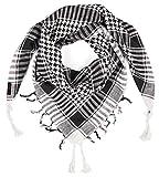 LOVARZI Pañuelo palestino Negro Blanco para hombre y mujer - Bufanda para mujer - Foulards hombre