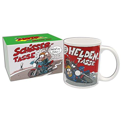 MOTOmania Kaffeetasse/Schisser - Helden Design/Becher/Motorradfahrer Geschenkidee