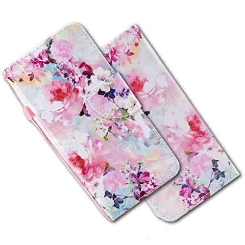 MRSTER Xiaomi Redmi Note 4 Hülle Leder, Langlebig Leichtes Klassisches Design Flip Wallet Case PU-Leder Schutzhülle Brieftasche Handyhülle für Xiaomi Redmi Note 4 / Note 4X. HX Ink Flowers