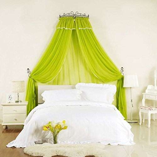 Big Save! GE&YOBBY Encrypted Mosquito Net,Crown Princess Bed Canopy Court Bed Curtain with Decorativ...