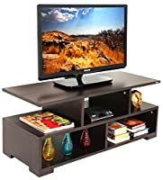 Product Dimensions: Length (101cm) x Breadth (40.5cm) x Height (40cm). Made of Particle Board (High grade prelam engineering wood with natural wood grain finish.) Product Color: Wenge, Product Style: Contemporary | Weight: 18 Kgs | Ideal TV Size- Upt...