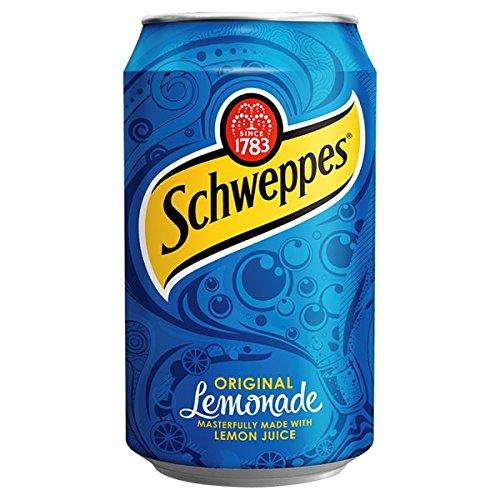 Schweppes Lemonade Can 330ml (Pack of 24 x 330ml)