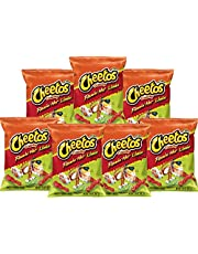 American Flamin Hot Cheetos Limon (77.9g 7 Pack) Famous Spicy Cheesy Chili Corn Crisps Snacks Classic Popular Fun Bag Bulk Deal Fancy Appetizers Grab Varieties hot & Queso Flavor botanas Mexican Item Name (aka Title)