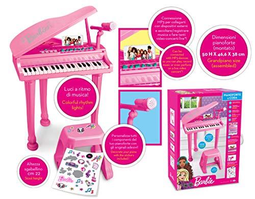 ODS- Barbie Pianoforte a Coda Piano, Colore Rosa, 45001
