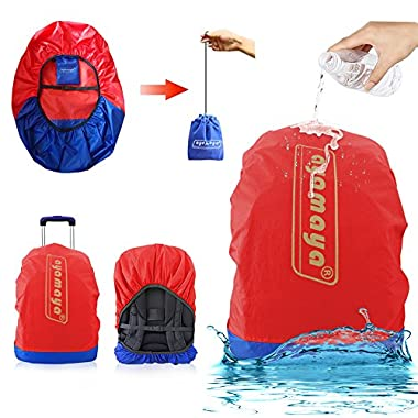 AYAMAYA Waterproof Backpack Rain Cover with Stored Bag 30-40L, Lightweight Durable Hiking Backpack Daypack Cover Elastic Adjustable Raincover Water Cover for Travel Laptop Backpack Business Bag -Red