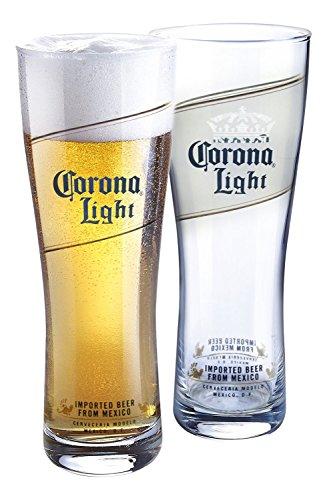 Corona Licht pilsners (Set von 4), glas, farblos, 16 Ounce