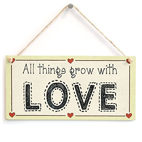 Meijiafei All Things Grow with Love - Sweet Hopeful Love Heart Sign Gift 10