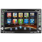Catuo Autoradio Bluetooth Main Libre 2 Din Écran 6.2'' Tactile HD Navigation GPS DVD/CD/MP3/MP4/RADIO/Carte SD/USB Multimédia Player Stéréo Tuner Caméra de Recul Supporté avec Télécommande