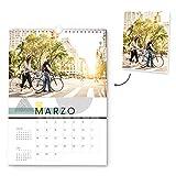 Fotoprix Calendario 2021 pared Personalizado con tus fotos | Varios Diseños y Tamaños Disponibles | Calendario anual clásico | Tamaño: A4 (21 x 29,7 cms)