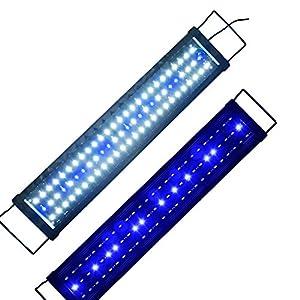 Aquarien-Eco-LED-Aquarium-Beleuchtung-Aufsetzleuchte-Blau-Wei-Aquariumleuchte-Lampe-60cm-80cm-15W