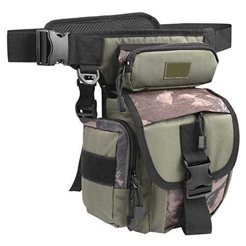 Tomanbery Bolsa de cinturón táctica Multiusos de Camuflaje Oxford para Satisfacer Todas Sus Necesidades para Hombres y Mujeres para IR de excursión,(Army Green Camouflage)