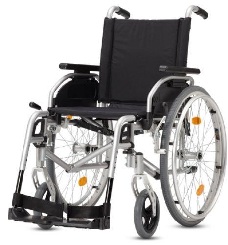 Leichtgewicht-Rollstuhl Bischoff & Bischoff Pyro Start Plus Silbermetallic 40 cm Sitzbreite