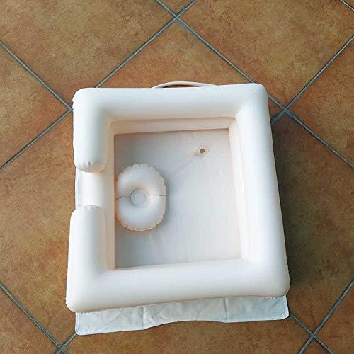 Alomejor Aufblasbares Becken Badehilfe Waschhaar im Faltbaren Tragbaren Waschbecken des Bettes im Freien für das Behinderte ältere Personen Schwangerschafts Reisen