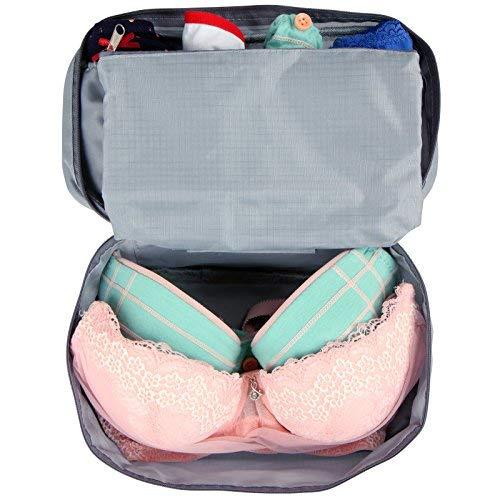 Tas voor ondergoed reistas bagagetas Beautycase make-up tas (B/H/D ca. 14/26/12 cm) in vier verschillende kleuren, MRST02-1grau, MRST02-1grau
