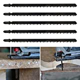 5tlg Professional Stichsägeblatt Set 180mm Lang Grob & Schnell für Wood und Metal zum Sägen in Holz und Metall, Zubehör Stichsäge