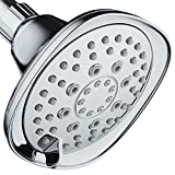 AquaDance, Chrome Hot Oval Square Style 6-setting High-Pressure Luxury Shower Head. Angle Adjustable, Solid Brass Connection Nut, Finish. Premium Quality Exclusive Showerhead from Top American