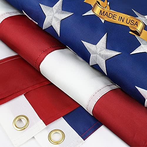 Homissor American Flags 3x5 Strongest,Longest...