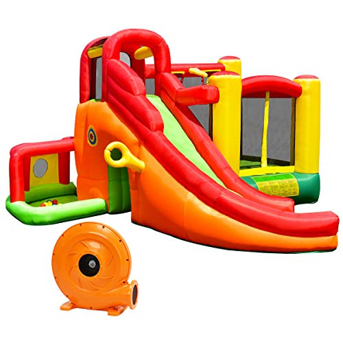 Check Out This Prettyshop4246 Castle Slide Inflatable Bouncer House Mesh Wall Play Center Child Play...