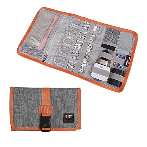 Electronic Organizer, BUBM Travel Cable Bag/USB Drive Shuttle Case/Electronics...