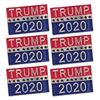 Amosfun トランプラベルピン合金2020アメリカ大統領ブローチ服帽子12ピース