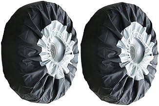 Olive Croft Couverture de Pneu de Rechange de Camouflage de Feuille Couvre-Roues universels pour des v/éhicules de Camion de SUV de remorque RV 14-17inch