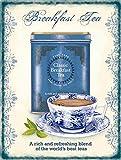 NOT Blechschild Breakfast Tee Blechschild Vintage Retro